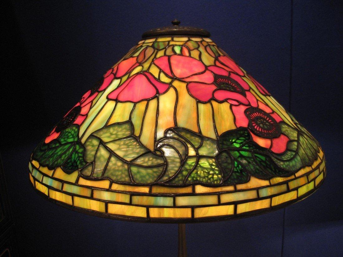 "Tiffany ""Poppy"" Lamp, circa 1920,stamped TiffanyStudios - 4"