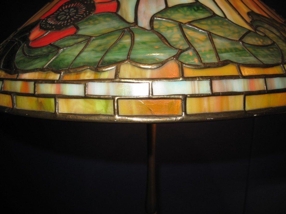 "Tiffany ""Poppy"" Lamp, circa 1920,stamped TiffanyStudios - 7"