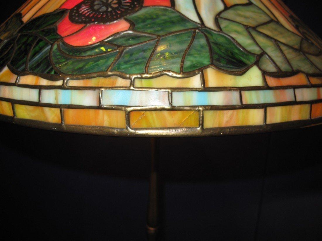 "Tiffany ""Poppy"" Lamp, circa 1920,stamped TiffanyStudios - 8"