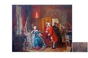 Jean Carolus (Belgian, 1814-1897)  'Holding Court',