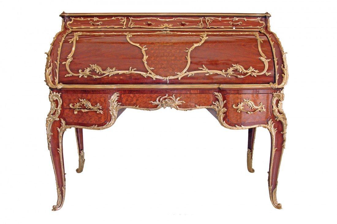 francois linke bureau a cylindre index number 393. Black Bedroom Furniture Sets. Home Design Ideas
