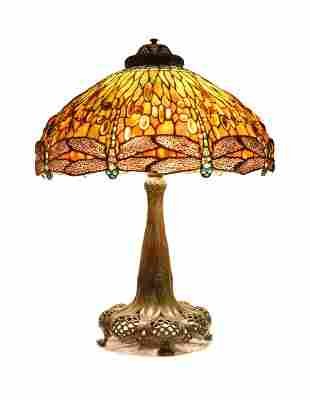 Tiffany Studios 'A Jeweled Dragonfly' lamp, circa 1910