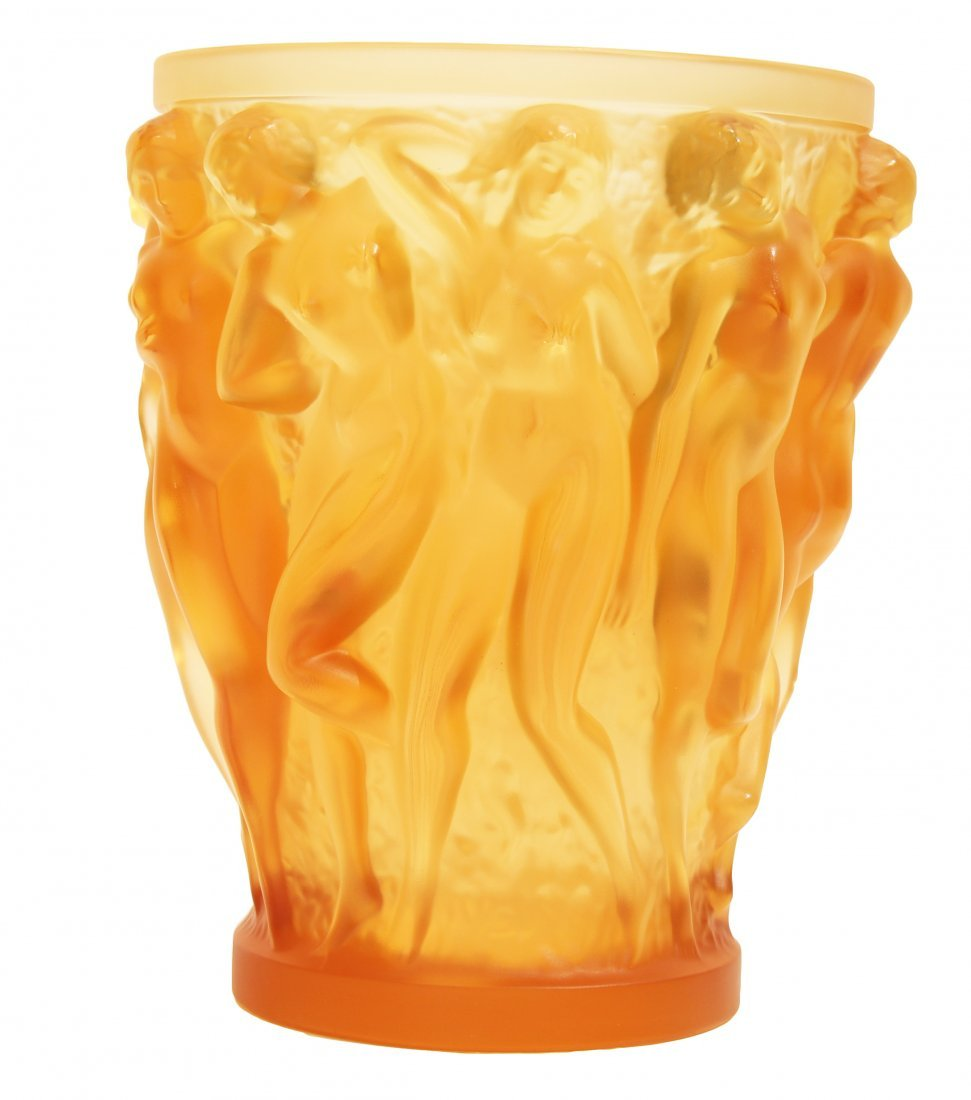 "LALIQUE ""BACCHANTES"" VASE, SOLD OUT EDITION"