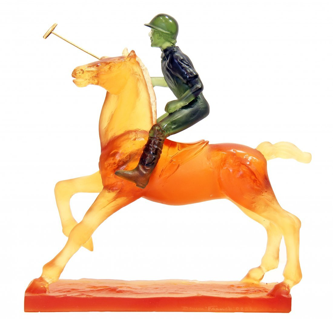 "DAUM CRYSTAL ""POLO PLAYER"", LTD EDITION, FRENCH"