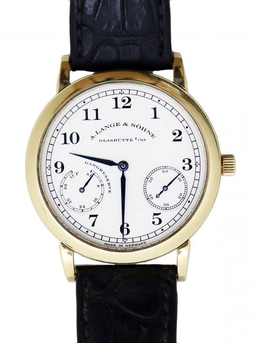 LANGE & SOHNE 18 KARAT GOLD 1815 UP/DOWN WRISTWATCH