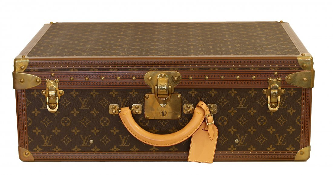 LOUIS VUITTON HARD SIDED SUITCASE