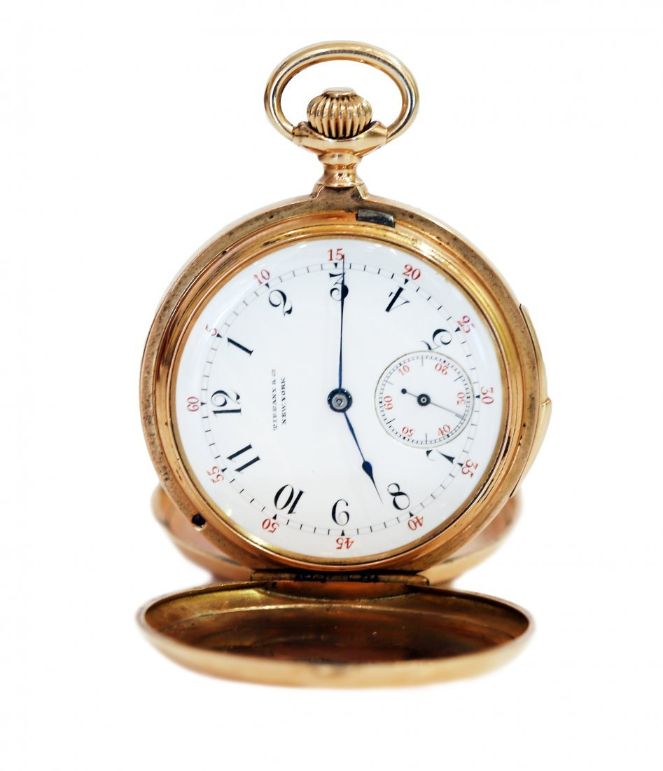 EIGHTEEN KARAT GOLD POCKET WATCH, BY TIFFANY & CO.