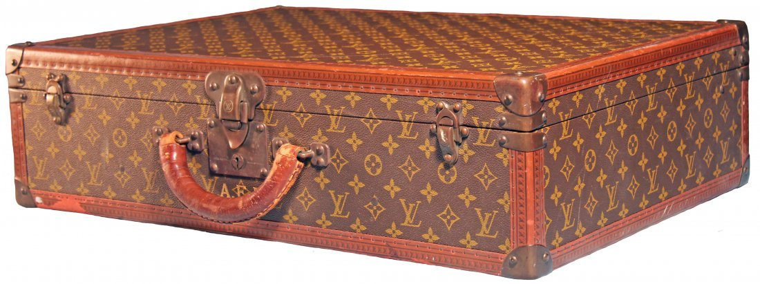 LOUIS VUITTON VINTAGE HARD SIDED SUITCASE