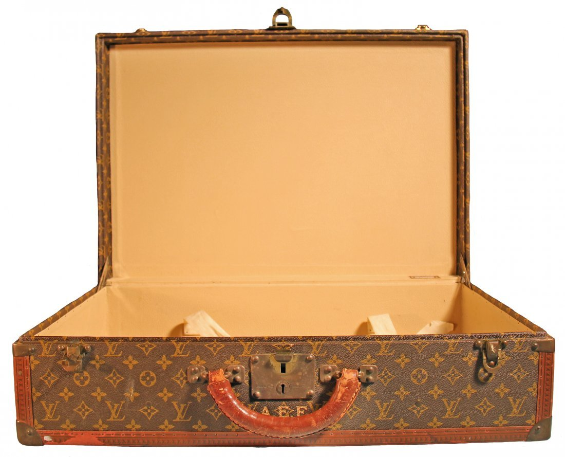 LOUIS VUITTON VINTAGE HARD SIDED SUITCASE - 2