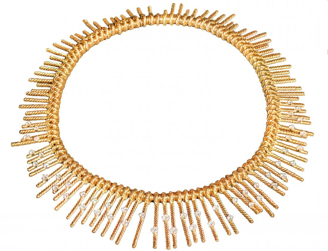 18K GOLD AND DIAMOND NECKLACE, SCHLUMBERGER FOR TIFFANY