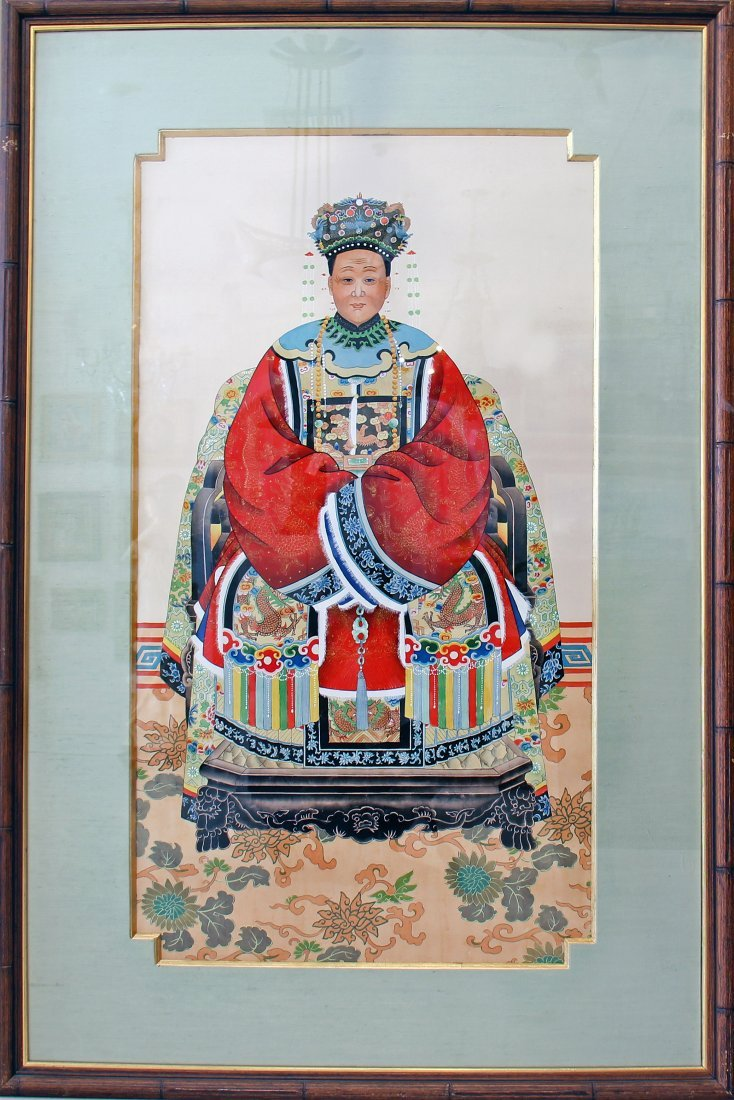 PAIR OF LARGE EMPEROR & EMPRESS PRINTS, CHINESE - 2