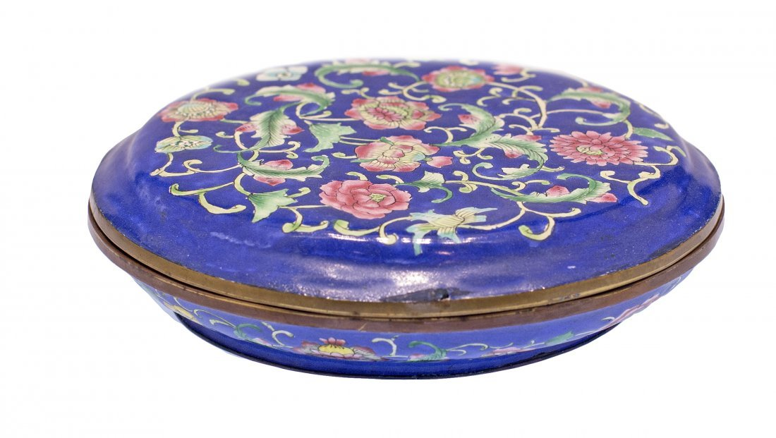 4: CHINESE CLOISONNE ENAMEL BOX AND COVER