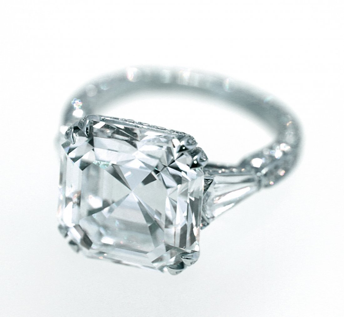 HIGHLY IMPORTANT 10.04 CT ASSCHER CUT DIAMOND RING
