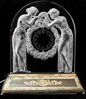 """RENE LALIQUE  """"DEUX FIGURINES"""" CIRCA 1926"""