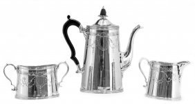 TIFFANY & CO. THREE PIECE SILVER COFFEE SERVICE