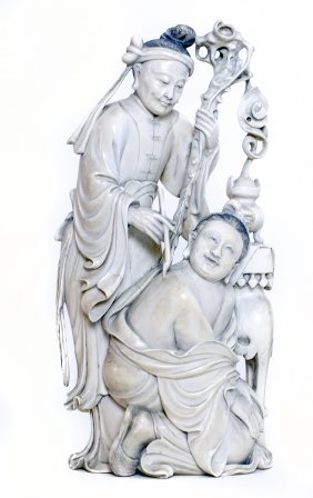 77: CHINESE CARVED IVORY GROUP