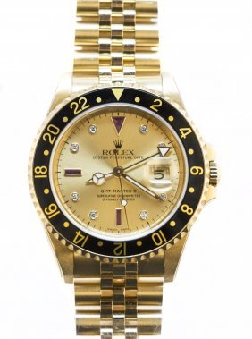 ROLEX 18KT YELLOW GOLD OYSTER PERPETUAL DATE GMT-MASTER