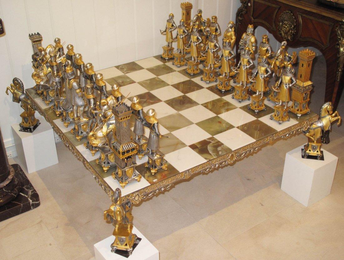 PALACE SIZE SUN KING CHESS SET BY PIERO BENZONI - 3