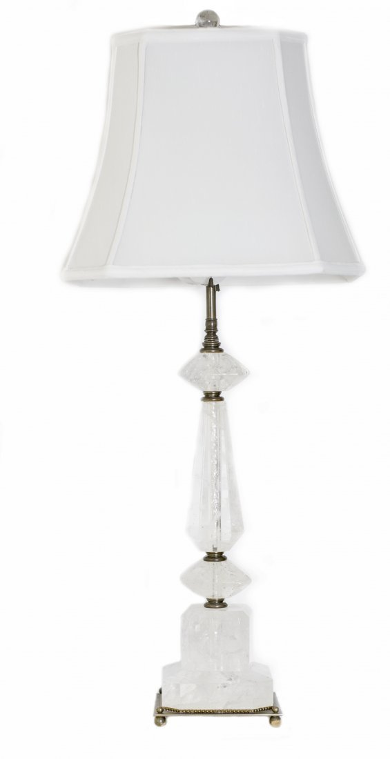 ROCK CRYSTAL TABLE LAMP
