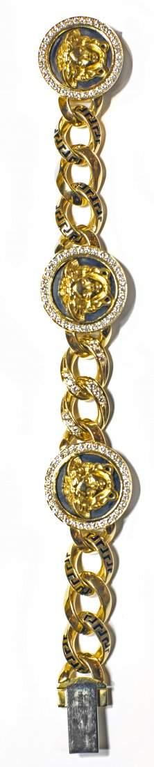 VERSACE 18KT GOLD, DIAMOND AND ENAMEL BRACELET