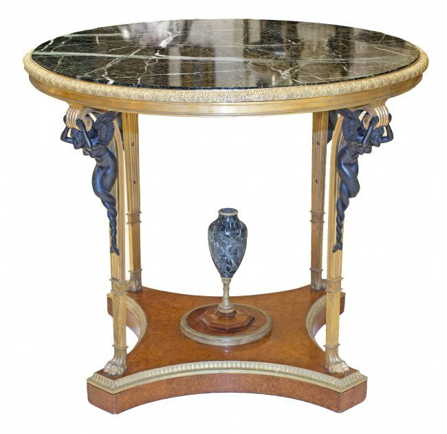 VERY FINE FRENCH CENTER TABLE , XIX TH CENTURY