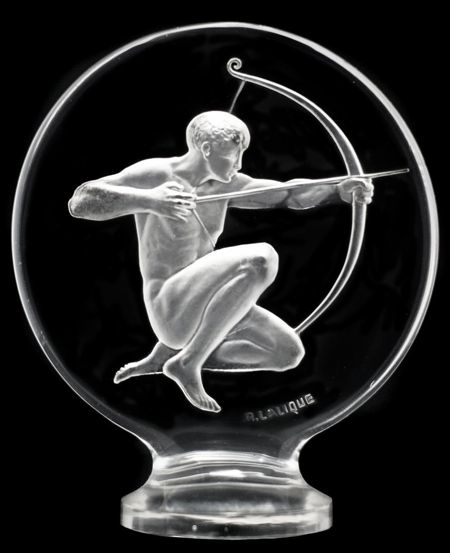 "RENE LALIQUE ""ARCHER"" PAPERWEIGHT, circa 1926"