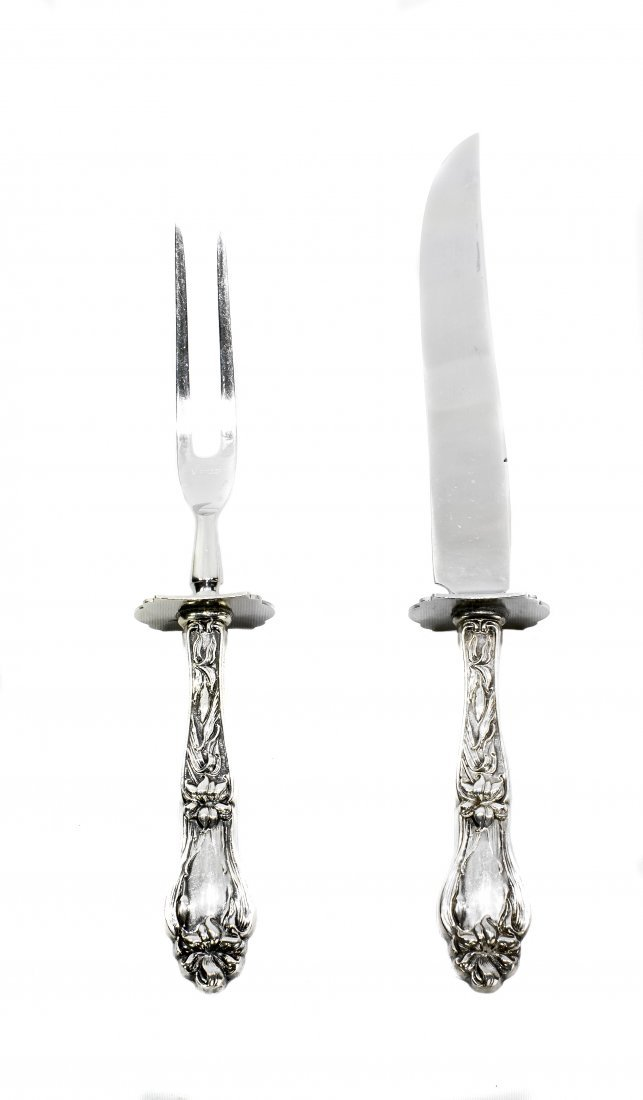 AMERICAN SILVER HANDLE CARVING SET