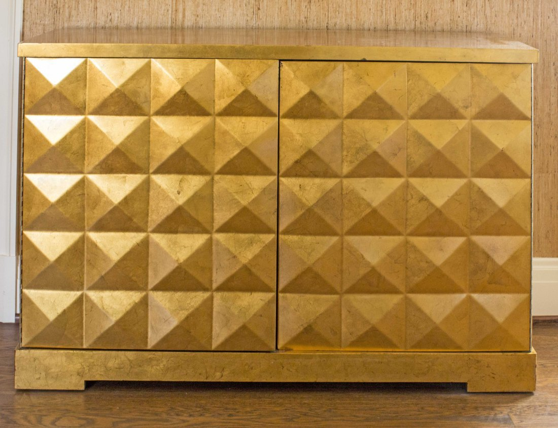 GOLD LEAF 'DIAMOND' CHEST, THE BARBARA BARRY COLLECTION