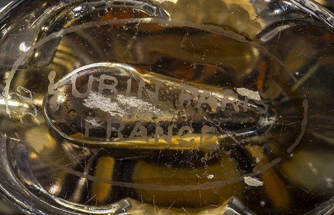 FRH MOLDED ELEPHANT GLASS PERFUME BOTTLE, LUBIN, KISMET - 10