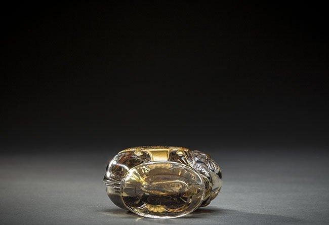 FRH MOLDED ELEPHANT GLASS PERFUME BOTTLE, LUBIN, KISMET - 5