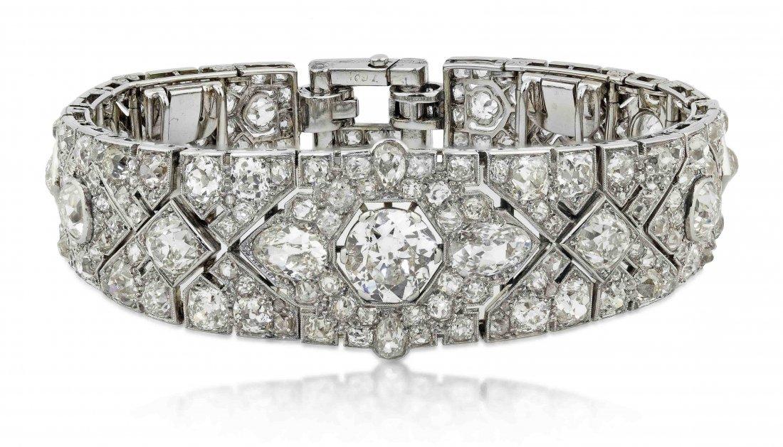 IMPORTANT CARTIER DIAMOND BRACELET