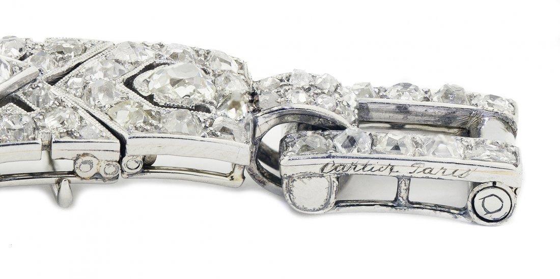 IMPORTANT CARTIER DIAMOND BRACELET - 3