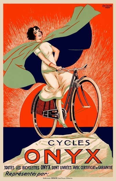 TWO VINTAGE BICYCLE POSTERS