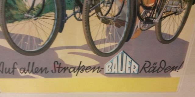 TWO VINTAGE BICYCLE POSTERS - 3