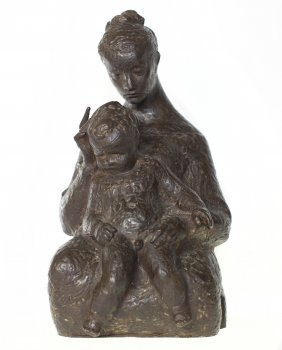 "NICOLAI SCHIØLL (1901-1984), ""Mother and Child"", 58"