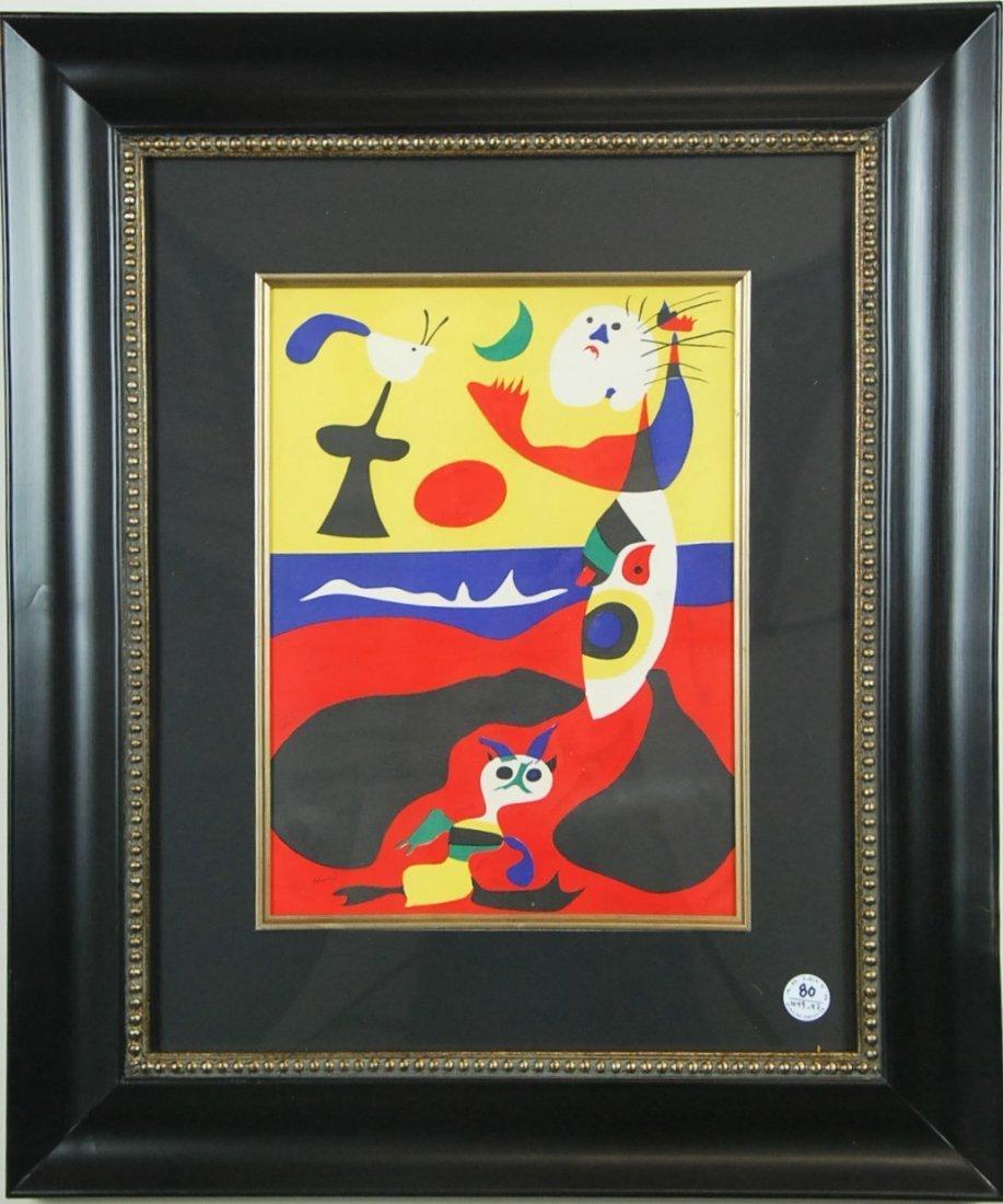 """JOAN MIRO NO RESERVE, """"L ete', """"Summer"""", 1938 - 2"""