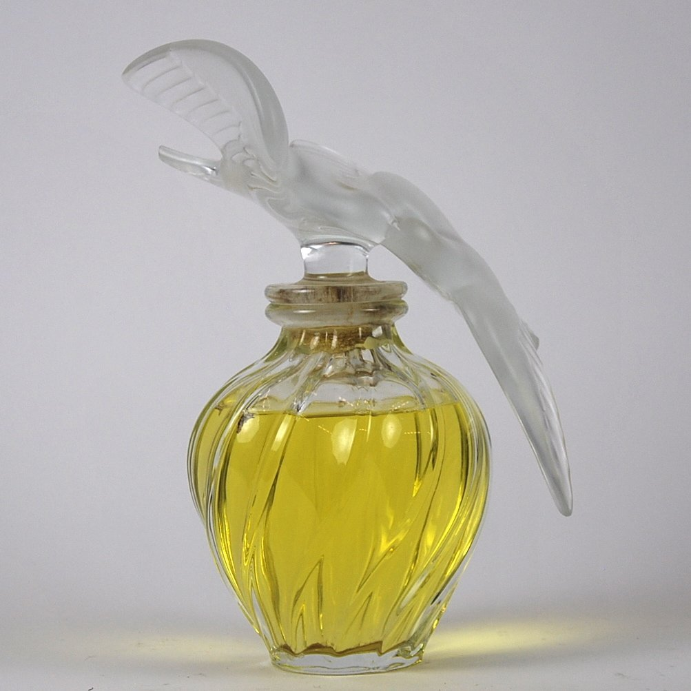 LALIQUE GLASS L'AIR d' TEMPS PERFUME DISPLAY BOTTLE,
