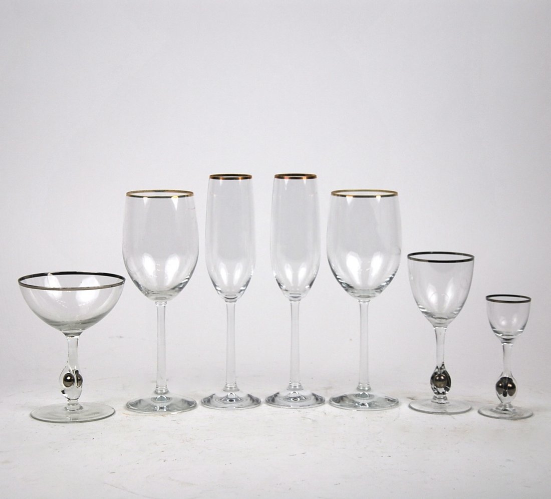 TWO GLASS STEMWARE PART SERVICES, MODERN
