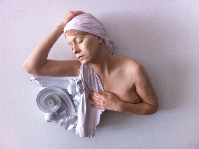 MARC SIJAN, (SERBIAN-AMERICAN, B. 1946) FEMALE RELIEF