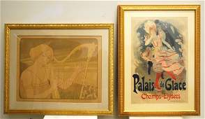 TWO ART NOUVEAU LITHOGRAPH POSTERS IN COLOR, CIRCA 1900