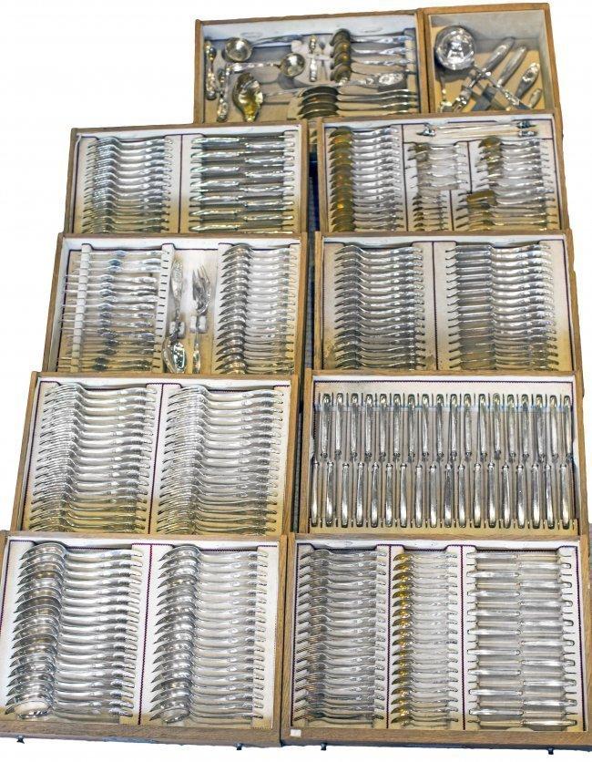 VERY FINE GERMAN SILVER 350 PC FLATWARE SET