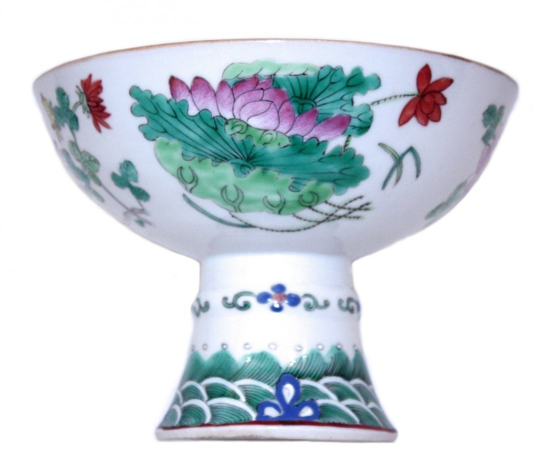 FAMILLE ROSE PORCELAIN BOWL , CHINESE,19TH CENTURY