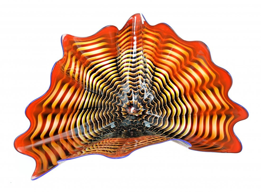 DALE CHIHULY, b.1941, BLOWN GLASS SEAFORM