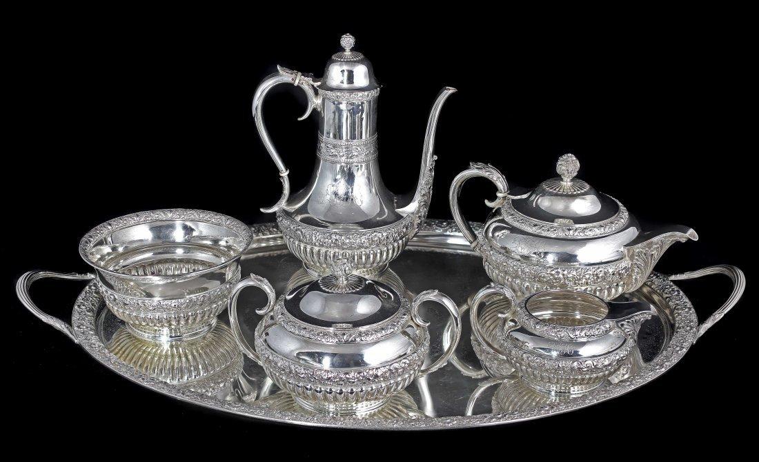 19TH CENTURY TIFFANY & CO.SILVER TEA AND COFFEE SERVICE