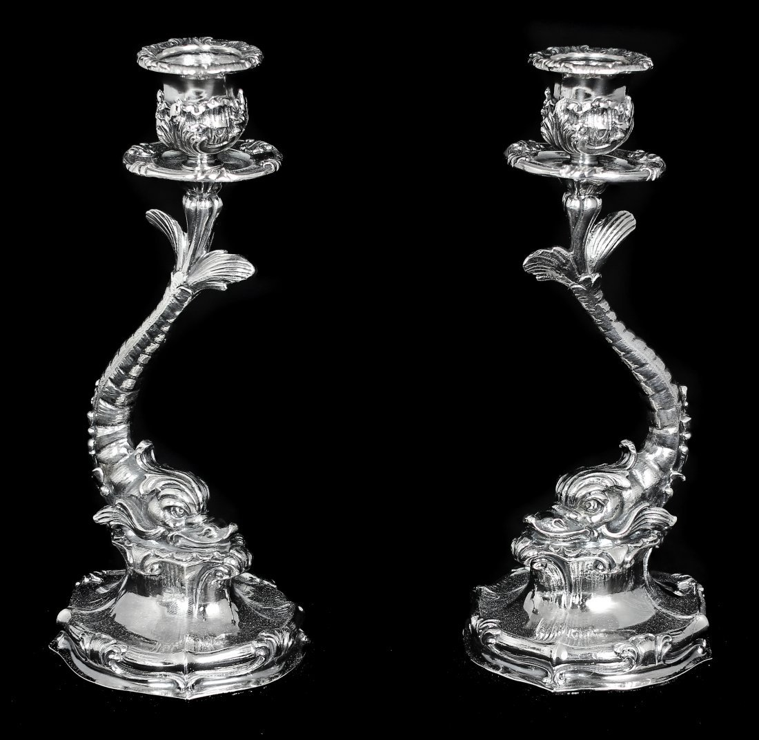 PAIR OF BUCCELLATI STERLING SILVER CANDLESTICKS