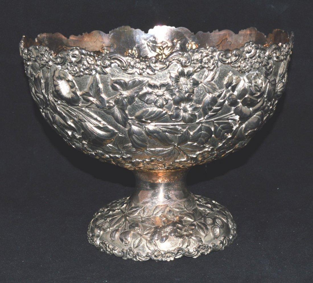 FINE GORHAM SILVER GILT BOWL CIRCA 1870