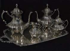 FOUR PIECE AMERICAN SILVER TEA AND COFFEE SERVICE