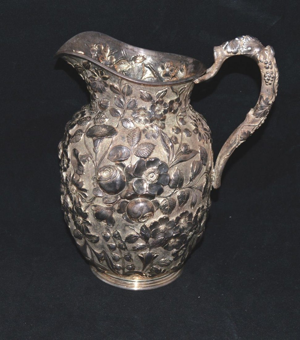 AMERICAN SILVER GILT WATER PITCHER (1894-1908)