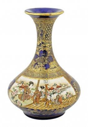 Fine Satsuma Vase, Japanese, Kinkozan, Meiji Period