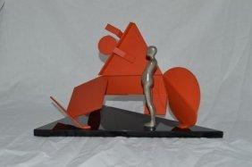 Ernest Trova, (amer. 1927-2010), Red Maquette, 1987